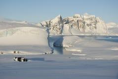 Paesaggio di inverno dell'Antartide. Fotografie Stock