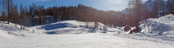 Paesaggio di inverno della montagna Immagine Stock