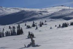 Paesaggio di inverno della montagna di Vitosha, Sofia City Region, Bulgaria fotografie stock