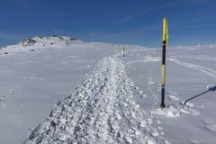 Paesaggio di inverno della montagna di Vitosha, Sofia City Region, Bulgaria fotografia stock libera da diritti