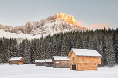 Paesaggio di inverno delle alpi dell'Austria Immagine Stock