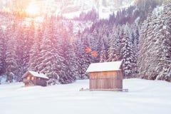Paesaggio di inverno delle alpi dell'Austria Immagini Stock
