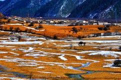 Paesaggio di inverno delle Shangri-La Fotografia Stock