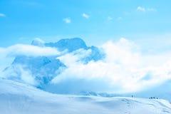 Paesaggio di inverno di Dombaj Fotografia Stock Libera da Diritti