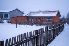 Paesaggio di inverno di ghiaccio e di neve Immagini Stock Libere da Diritti