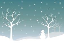 Paesaggio di inverno di giorno Immagini Stock