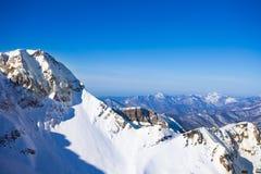 Paesaggio di inverno di Soci delle montagne di Caucaso Fotografie Stock Libere da Diritti