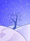Paesaggio di inverno di Swirly Immagini Stock Libere da Diritti