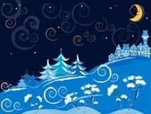 Paesaggio di inverno di vettore Illustrazione di Stock