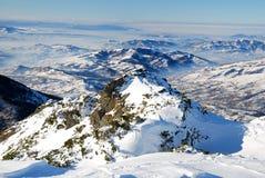 Paesaggio di inverno in Maramures Fotografia Stock