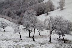 Paesaggio di inverno nei mountins Immagine Stock Libera da Diritti