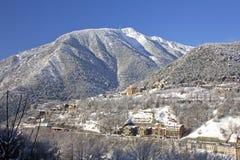 Paesaggio di inverno nei Pyrenees Fotografie Stock