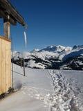 Paesaggio di inverno nel Bernese Oberland Immagine Stock Libera da Diritti