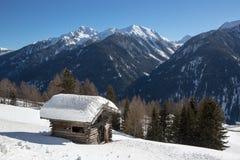 Paesaggio di inverno nel d'Ultimo di Val - di Ultental (Italia) Immagini Stock Libere da Diritti