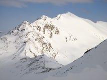 Paesaggio di inverno nella regione di Engadin Immagini Stock Libere da Diritti