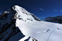Paesaggio di inverno nella regione di Jungfrau Immagini Stock Libere da Diritti