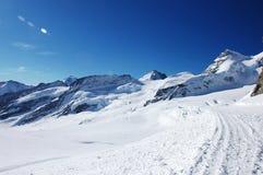 Paesaggio di inverno nella regione di Jungfrau Fotografia Stock