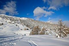 Paesaggio di inverno nelle alpi Immagini Stock Libere da Diritti