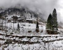 Paesaggio di inverno nelle alpi Immagini Stock