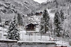 Paesaggio di inverno nelle alpi Fotografia Stock Libera da Diritti