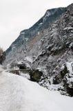 Paesaggio di inverno nelle alpi francesi Fotografia Stock Libera da Diritti