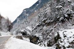 Paesaggio di inverno nelle alpi francesi Immagine Stock