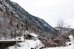 Paesaggio di inverno nelle alpi francesi Immagine Stock Libera da Diritti