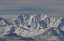Paesaggio di inverno nelle montagne di Oquirrh fotografia stock