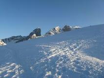 Paesaggio di inverno a Passo Giau Fotografia Stock Libera da Diritti