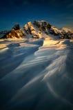 Paesaggio di inverno di Passo Giau, dolomia, Italia Fotografia Stock Libera da Diritti