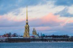 Paesaggio di inverno di Sankt-Peterburg Fotografie Stock Libere da Diritti