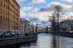 Paesaggio di inverno di Sankt-Peterburg immagini stock libere da diritti