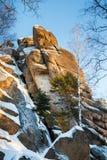 Paesaggio di inverno in Siberia Fotografie Stock