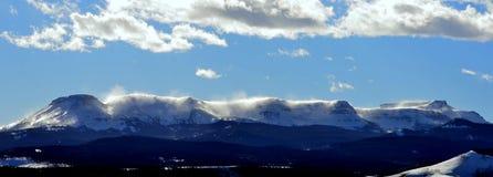 Paesaggio di inverno sulla regione selvaggia della cima piana Fotografie Stock Libere da Diritti