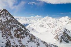 Paesaggio di inverno in Tirolo Fotografia Stock