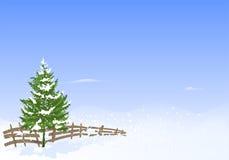 Paesaggio di inverno, vettore dei cdr Immagini Stock