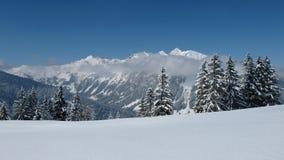 Paesaggio di inverno vicino a Gstaad Immagini Stock
