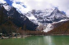 Paesaggio di jokul e del lago Fotografia Stock