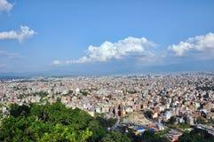 Paesaggio di Kathmandu, Nepal Fotografia Stock