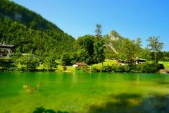 Paesaggio di Konigsee Fotografia Stock