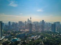 Paesaggio di Kuala Lumpur City in Malesia Immagini Stock Libere da Diritti
