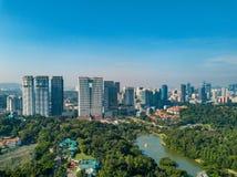 Paesaggio di Kuala Lumpur City in Malesia Fotografie Stock