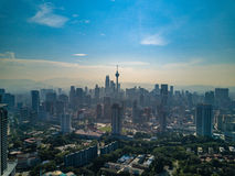 Paesaggio di Kuala Lumpur City in Malesia fotografia stock libera da diritti