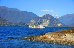 Paesaggio di Lago Maggiore, Italia del Nord, Europa Fotografia Stock