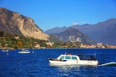 Paesaggio di Lago Maggiore, Italia del Nord, Europa Immagini Stock Libere da Diritti