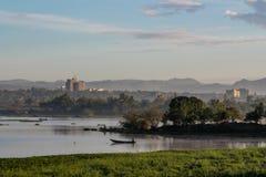 Paesaggio di lago Vittoria vicino alla città Kisumu nel Kenya Fotografia Stock Libera da Diritti
