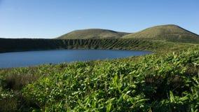 Paesaggio di Lagoa Rasa in Flores, Azzorre Fotografia Stock Libera da Diritti