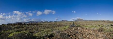 Paesaggio di Lanzarote Fotografie Stock Libere da Diritti