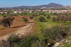 Paesaggio di Larnaca Fotografia Stock