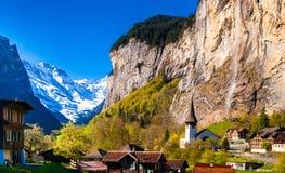 Paesaggio di Lauterbrunnen, Svizzera Immagini Stock Libere da Diritti